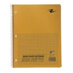 "WB NOTEBOOK GREEN 11""x8.5"" 5X5 QUAD"