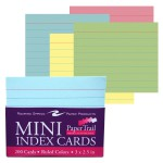 "MINI TRAYED INDEX CARDS 3""x2 1/2"" COLOR"
