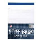 """STIFF PAD 8.5""""x11.75"""" 3HP WHITE CM"""