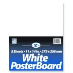 WHITE POSTER BOARD 11 x 14