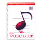 "MUSIC NOTEBOOK 11""x8.5"" 12 STAVE"
