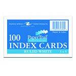 "INDEX CARDS 3""x5"" RULED WHITE"