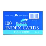 "INDEX CARDS 3""x5"" PLAIN WHITE"