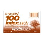 "RECYCLED INDEX CARDS 3""x5"" PLAIN WHT"