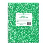 """GRADE ONE NOTEBOOK 10.5"""" x 8"""" GREEN COVER"""