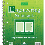 "Wirebound Engineering Notebook - 8.5"" x 11"""
