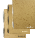 "Unruled(TM) Large Classic Wirebound Notebook, 10.5"" x 8 70 Sheets, Plain"
