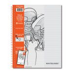 "Wirebound notebook 11"" x 8.5"" Lined"