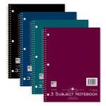 """WB NOTEBOOK 3SUB 10.5""""x8"""" CM"""