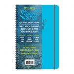"Roaring Spring Storm Writer Waterproof Notebook Made With Recycled Stone Paper, 6""x9"", Blue Cover with Elastic Closure"