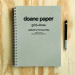 "Doane Paper Large Idea Journal 10.875"" x 8.375"" 100 Sheets, Grid + Lines"