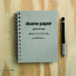 "Doane Paper Small Idea Journal 6.875"" x 5.25"" 100 Sheets, Grid + Lines"