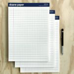 "Doane Paper Large Writing Pad, Pack of 3 8.25"" x 11.75"" 50 Sheets per pad, Grid + Lines"