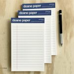"Doane Paper Small Writing Pad, Pack of 3 5"" x 8"" 50 Sheets per pad, Grid + Lines"