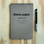 "Doane Paper Large Flap Jotter 5.5"" x 8.5"" 40 Sheets, Grid + Lines"