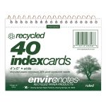 "WB INDEX CARDS 4""x6"" RULED RECYCLED"