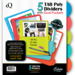 POLY TAB DIVIDERS, 3-HOLE PUNCHED POLYWRAPPED 11 X 8 1/2