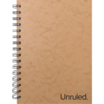 "Unruled(TM) Small Classic Wirebound Notebook, 8.5"" X 6"" 70 Sheets, Plain"